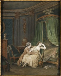 Nicolas Lavreince, Le repentir tardif, dessin, 26 x 21 cm, Paris, musée Cognacq-Jay. © RMN-Grand Palais/Agence Bulloz