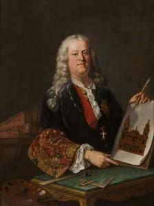 Jean-Nicolas Servandoni (attribué à), Autoportrait, troisième quart XVIIIe siècle, huile sur toile, 130 x97 cm, Versailles, musée national des châteaux de Versailles et de Trianon