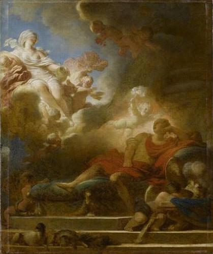Jean-Honoré Fragonard, Le Songe d'amour du guerrier, avant 1785, huile sur toile, 61,5 x 50,5 cm, Paris, musée du Louvre.