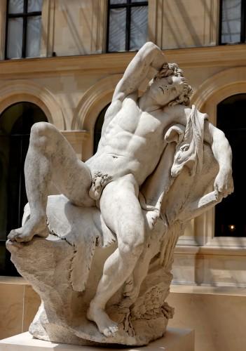 Edme Bouchardon, Faune endormi, 1726-1730, marbre, 1,84 x 1,42 x 1,19 m, Paris, musée du Louvre.