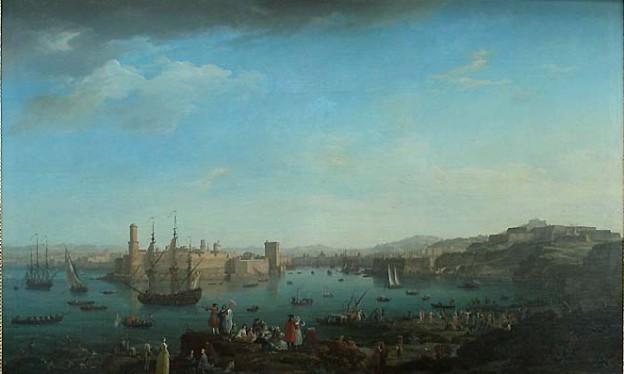 Joseph Vernet, L'entrée du port de Marseille, 1754, 1,65 x 2,63 m, Paris, musée du Louvre.