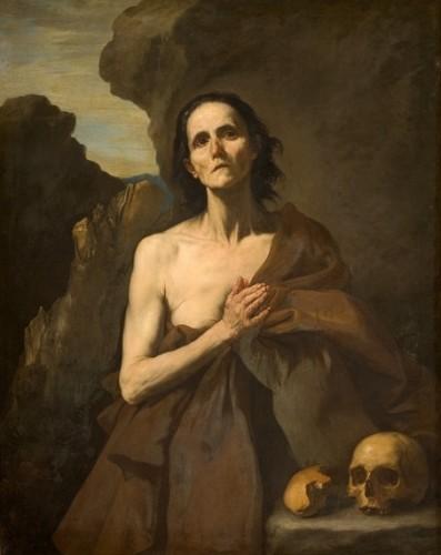 Fig. 1 Giuseppe de Ribera (1591-1652), Sainte-Marie l'Egyptienne, 1641, Huile sur toile, 132 x 108 cm, Montpellier, Musée Fabre.