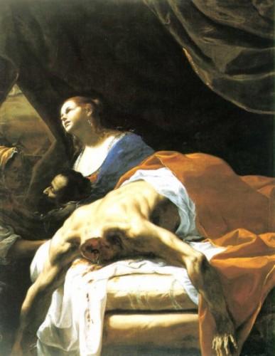 [Fig. 7] Mattia Preti, Judith montrant la tête d'Holopherne, v. 1651-1661, 186 x 143 cm, huile sur toile, Chambéry, Musée des Beaux-Arts.