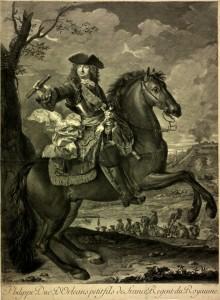 Jean Ranc d'après Nicolas Edelinck, Philippe, duc d'Orléans, régent de France, vers 1720, gravure sur cuivre, marché de l'art.