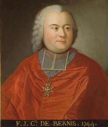 Anonyme, François-Joachim de Pierre de Bernis, cardinal de Bernis, 1744, huile sur toile, 63 x 52 cm, Paris, palais de l'Institut.