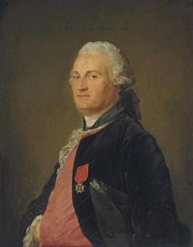 Jean-Baptiste Perroneau, Portrait présumé de Barthélémy Augustin Blondel d'Azincourt, 1765, huile sur toile, 80 x 63,4 cm.