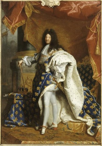 Hyacinthe Rigaud, Portrait de Louis XIV en costume royal, 1701, huile sur toile, 277 x 194 cm, Paris, musée du Louvre.