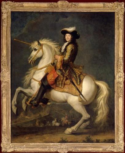 René Antoine Houasse, Louis XIV à cheval, fin du XVIIe siècle, huile sur toile, 255 x 200 cm, Versailles, musée national de Versailles et de Trianon.