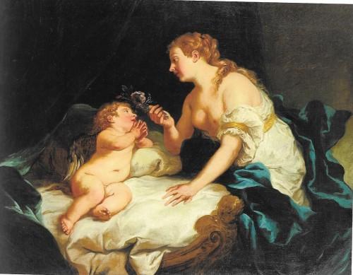 Jean-François de Troy, Vénus et l'Amour, hst, 111 x 144 cm