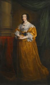 Anton van Dyck, Portrait de la Reine Henriette Marie de France, huile sur toile, 127 x 81,3 cm.