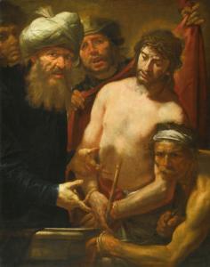 Giocchino Assereto, ecce Homo, 1640 - 1650, huile sur toile, 124,5 x 97 cm.