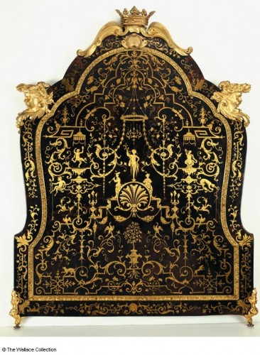 André-Charles Boulle, Miroir de toilette, 1713, 73 x 56 cm, Londres, wallace Collection.