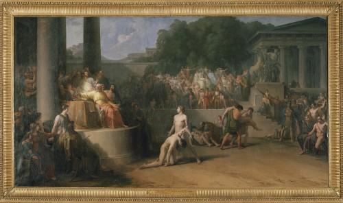 Jean-Pierre Saint-Ours, Les Jeux Olympiques, 1783-1799, huile sur toile, 209,5 cm x 386 cm, Genève, Musée d'Art et d'Histoire, don de J.-L.R. Tronchin