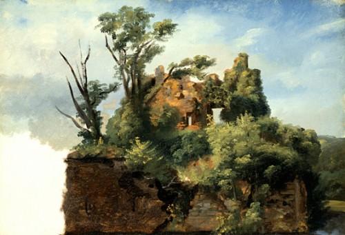 Pierre-Henri de Valenciennes, Paysage avec ruine, ca. 1782-1785, 41,91 x 57,15 cm,  Los Angeles, LACMA.