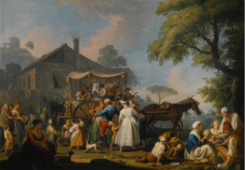 Pietro Fabri, Les Villageois partant pour le festival de la Madone de l'Arc, 1773, huile sur toile, 128 x 182,5 cm.