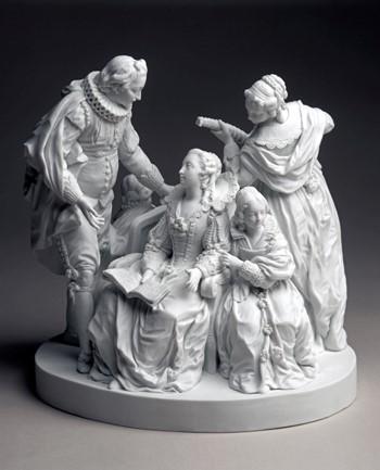 Jean-François Duret, La Mandoline ou La Conversation espagnole, 1772, Cité de la céramique, Musée national de céramique.