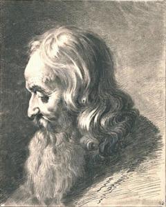 Jean-Jacques de Boissieu, Tête de vieillard, de profil vers la gauche, dessin, 23,5 x 18,5 cm, Paris, musée du Louvre.
