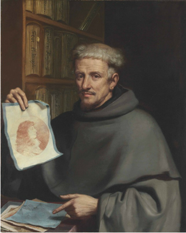 Giovanni Francesco Barbieri, dit Le Guercin, Portrait de Fra Bonaventura Bisi, vers 1658, huile sur toile, 94.4 x 76.4 cm.