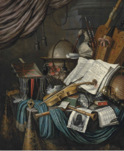 Edwaert Collier, Nature morte, 1662, huile sur toile, 166.1 x 137.2 cm.
