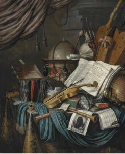 Edwaert Collier, Nature morte, 1662, huile sur toile, 166.1 x 137.2 cm.