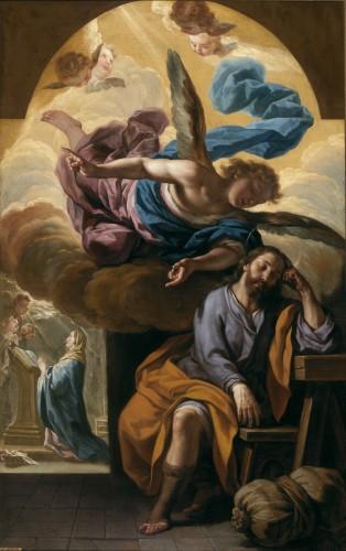 Antonio Palomino, El sueño de San José, ca. 1697, huile sur toile, 159 x 103 cm, Madrid, musée du Prado.
