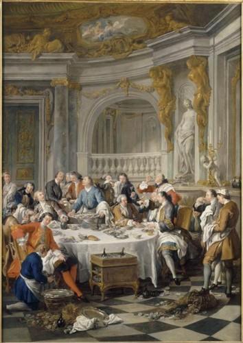 Jean François de Troy, Le déjeuner d'huîtres, 1735, huile sur toile, 180 x 126 cm, Chantilly, musée Condé.