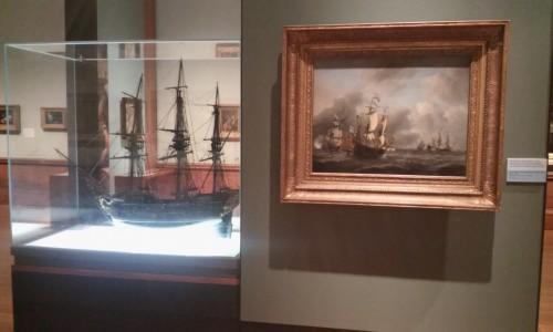 Willem van de Velde le Jeune, Le Eendracht et d'autres bateaux de la flotte néerlandaise, 1673 ou 1678, huile sur toile, 64,7 x 85, 4 cm, Kelvingrove Art Gallery and Museum.