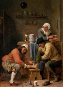 David Teniers le Jeune, Chirurgien soignant le pied d'un paysan, vers 1630-1660, huile sur panneau, 368 x 273 mm, Kelvingrove Art Gallery and Museum. (c) Glasgow Museums