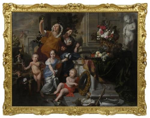 Gerard Lairesse, Les Cinq Sens, 1668, huile sur toile, 1372 x 1829 mm, Kelvingrove Art Gallery and Museum.