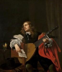 Jacob van Reesbroeck, Portrait d'un homme au lute, vers 1655-1660, huile sur toile, 146 x 125.7 cm, Kelvingrove Art Gallery and Museum. (c) Glasgow Museums