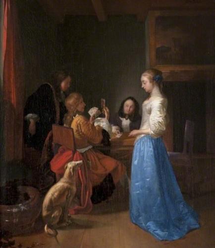 Joost van Geel, La Reine de Cœur, vers 1660-1680, huile sur toile, 44.4 x 39 cm, Kelvingrove Art Gallery and Museum. (c) Glasgow Museums