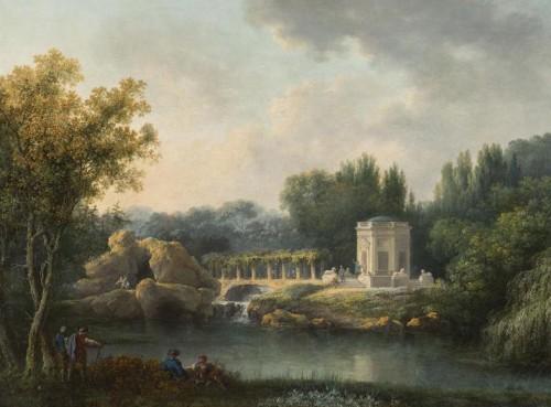 Claude-Louis Châtelet, Le Rocher et le Belvédère à Versailles, ca. 1785, huile sur toile, Versailles, musée national des châteaux de Versailles et de Trianon.
