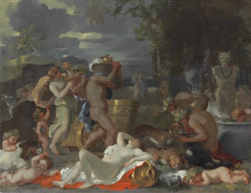 Sébastien Bourdon, Bacchus et Ariane sur l'ile de Naxos, vers 1630, huile sur toile, 80,4 x 102,2 cm.