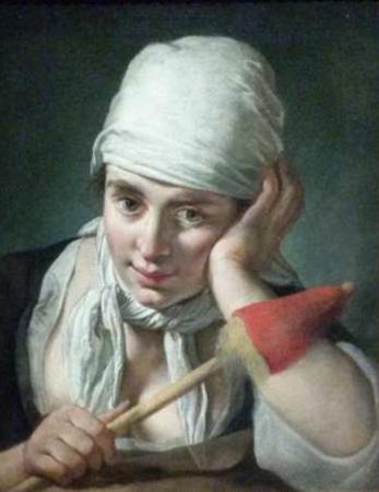 Giacomo Ceruti, Jeune paysanne à la quenouille, vers 1740, huile sur toile, 48 x 39,2 cm, Budapest, musée des Beaux-Arts.