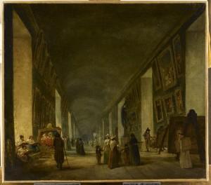 La Grande Galerie du Louvre entre 1794 et 1796 (RF1948-36), Hubert ROBERT (37 x 41 cm) Paris Musée du Louvre