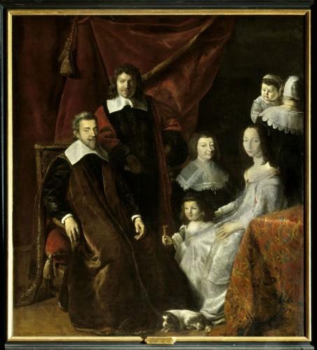 Philippe de Champaigne (attribué à), Portrait de la famille Habert de Montmor, XVIIe siècle, huile sur toile, Sully-sur-Loire, château.