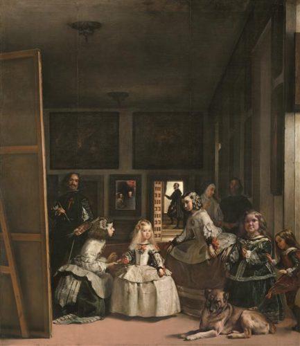 Diego Velasquez, Las Meninas, ca. 1656, huile sur toile toile, 318 x 276 cm, Madrid, museo nacional del Prado.