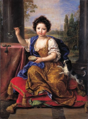 Pierre Mignard, Louise Marie de Bourbon, duchesse d'Orléans, dite Mme de Tours, vers 1681 – 1682, huile sur toile, Versailles, musée national des châteaux de Versailles et de Trianon.