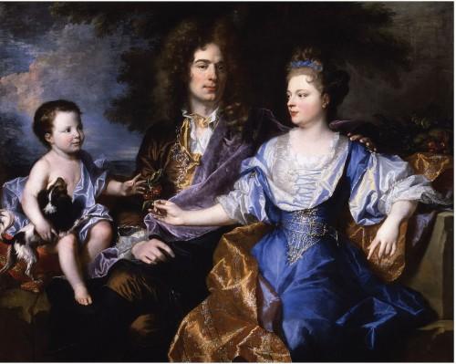 Hyacinthe Rigaud, La famille Léonard, 1693, huile sur toile, 126 x 154 cm, Paris, musée du Louvre.