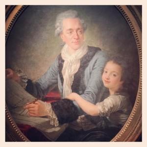 Jean Wyrsch (attribué à), Portrait de Claude Nicolas Ledoux, architecte, avec sa fille Adélaïde, vers 1780, huile sur toile, Paris, musée Carnavalet.