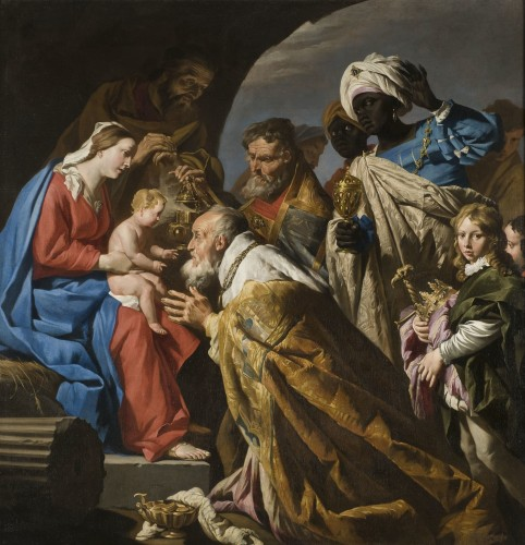 Matthias Stom (1615-1649), The Adoration of the Magi, XVIIe siècle, huile sur toile, Wikimedia Commons