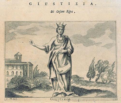 Giustizia, in RIPA, Cesare, Iconologia