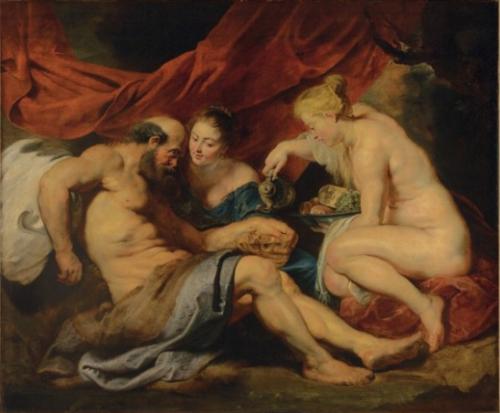 Pierre-Paul Rubens, Loth et ses filles, vers 1613 – 1614, huile sur toile, 190 x 225 cm.