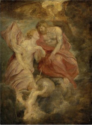 Pierre-Paul Rubens, Venus suppliant Jupiter, huile sur bois, 50.8 x 37.5 cm.