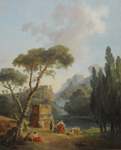 fig. 4. Hubert Robert, Les Bergers d'Arcadie, 1789, huile sur toile, 209 x 171, musée de Valence