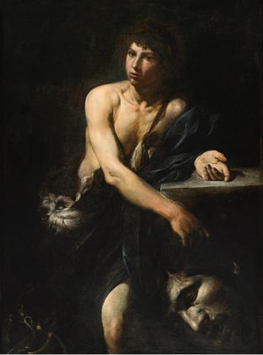 Valentin de Boulogne, David avec la tête de Goliath, 1627, huile sur toile, 139 x 103 cm.