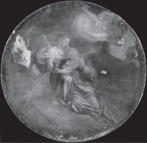 Charles Le Brun, Christ au jardin des Oliviers (avant restauration), vers 1660, Paris, musée du Louvre, réflectographie infrarouge © C2RMF / Jean-Louis Bellec