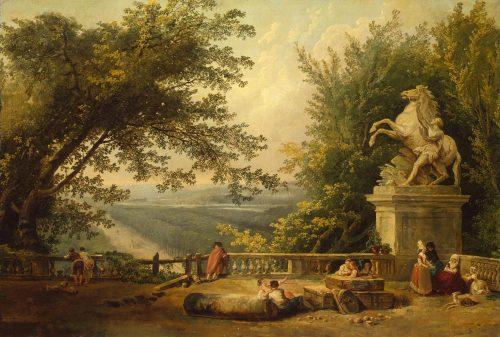 fig. 11. Hubert Robert, La terrasse de Marly, vers 1780, huile sur toile, 59 x 87, Saint-Pétersbourg, musée de l'Ermitage