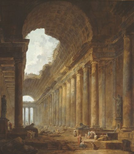 fig. 10. Hubert Robert, Le Vieux Temple, 1787-1788, huile sur toile, Chicago, The Art Institute of Chicago