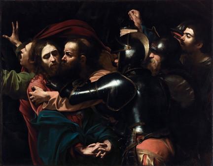 Michelangelo Merisi da Caravaggio dit Le Caravage, L'arrestation du Christ (detail), 1602, huile sur toile, Dublin, National Gallery of Ireland
